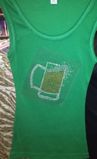 Green Beer Tank Top