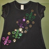 Girls Sequin Fleur de Lis Dress