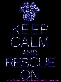 Rhinestone Keep Calm and Rescue Shirt