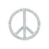 Small Peace Rhinestone Transfer