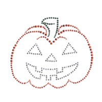 Rhinestone Jack O' Lantern Hot Fix Transfer 4389