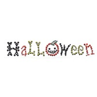 Rhinestone Halloween Hot Fix Transfer