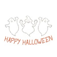 Rhinestone Happy Halloween Hot Fix Transfer
