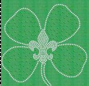 Clover with Fleur de Lis in Center