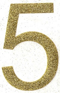 Large Glitter Number Single Digit
