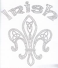 Celtic Knot Silver Fleur de Lis Tansfer