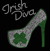 Irish Diva High Heel Transfer