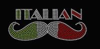 Rhinestone Italian  Mustache