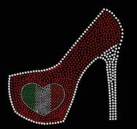 Rhinestone Italian High Heel Transfer