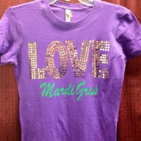 LOVE Mardi Gras Shirt