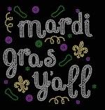 Mardi Gras Y'all Iron-on