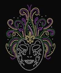 Rhinestone Mard Gras Mask 1 Shirt
