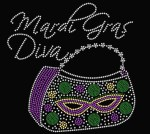 Mardi Gras Diva with Purse Shirt