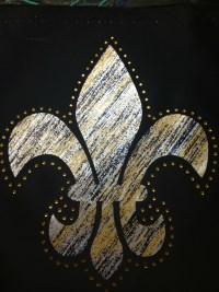 Metallic Striped Fleur de Lis Shirt