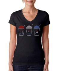 Red, White and Blue Snowball Shirt