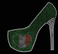 Irish Heart  High Heel Transfer